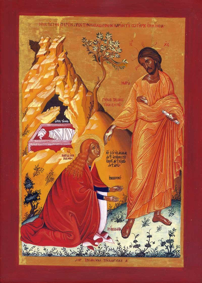 «Marie-Madeleine et la résurrection du Christ» Icône croate du 16e siècle, inconnu Musée des icônes de la communauté des Eglises orthodoxes serbes, Dubrovnik