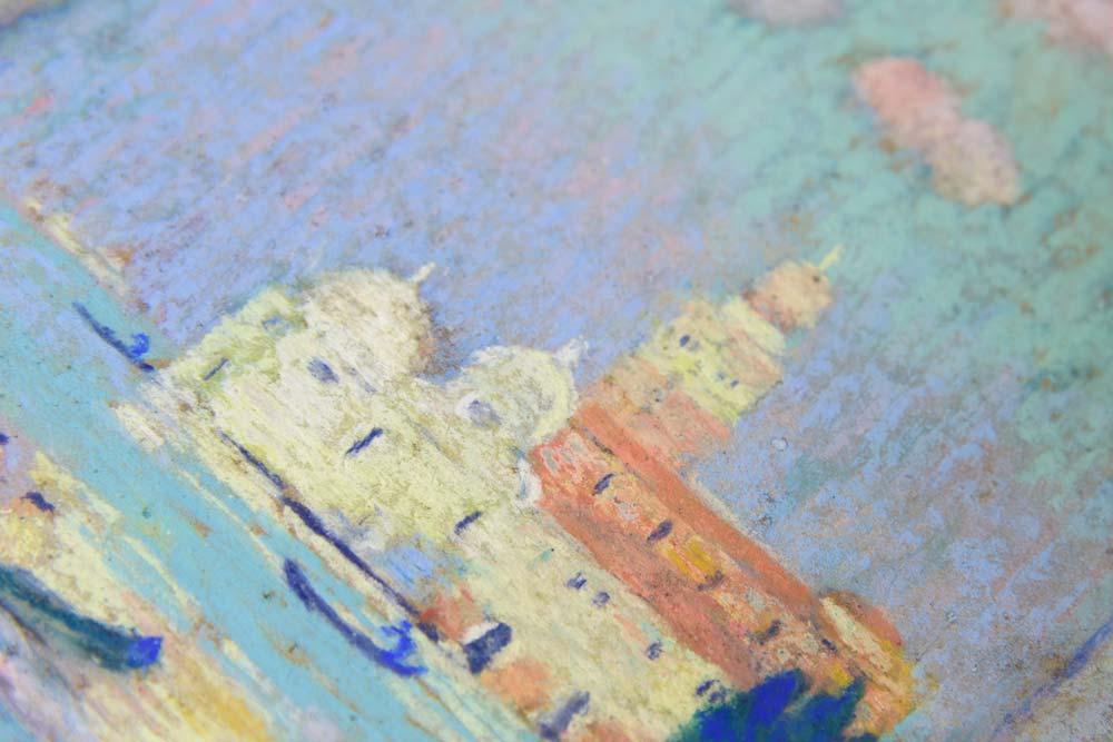 Retouche sur petit pastel XVIIIème, collection particulière