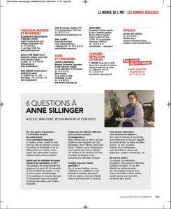 6 questions à Anne Sillinger